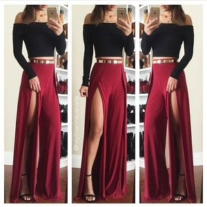 Pants - Red hot palazzo pants