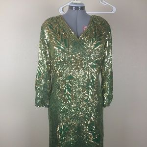 NWT vintage sequin and beaded dress