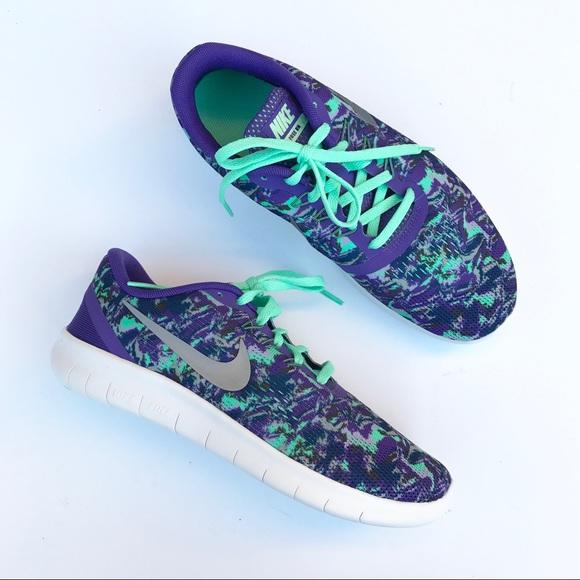 484ec8c9a0ad Nike Free RN Runs Mint Green Purple