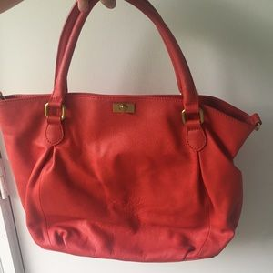 J. Crew Leather Brompton Hobo Bag in Red
