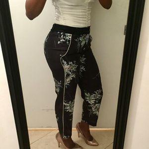 Zara Floral Print Pants