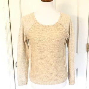 Silence + Noise two toned tan angora sweater