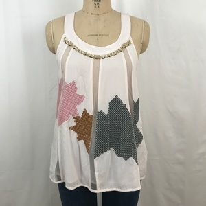 COMING SOON Anthro Floreat embroidered beaded top
