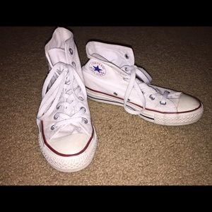 All Star Converse Shoes - All star white high top converse