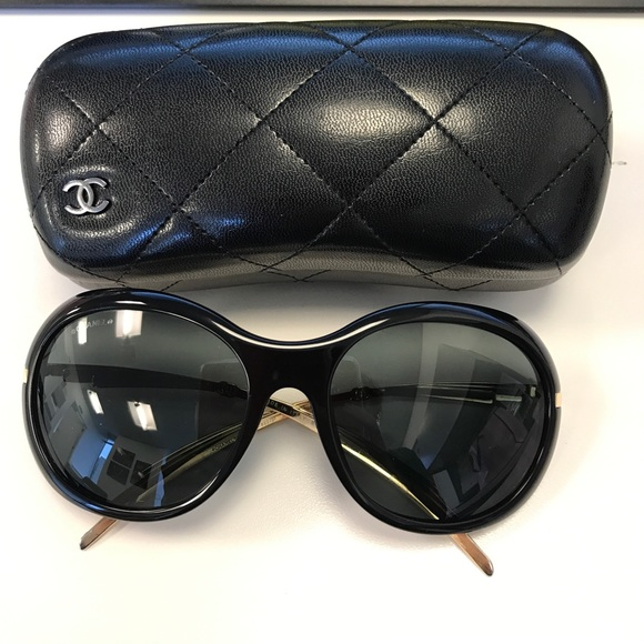 453c2256f045 Chanel sunglasses 5152 622 Blk/Gold. Gently used! M_59774ff39c6fcf230a01e51a
