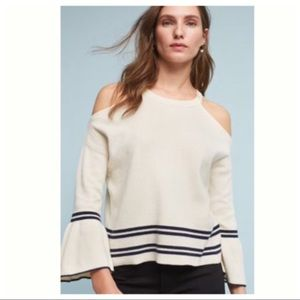 {Anthropologie} Leandre Open Shoulder Top