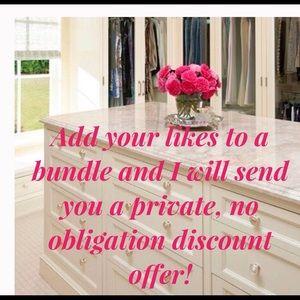 Bundle for no obligation discount offer 🛍