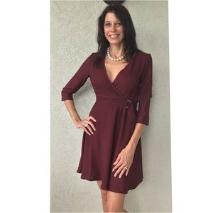 Dresses & Skirts - Small or Medium Burgundy Dress