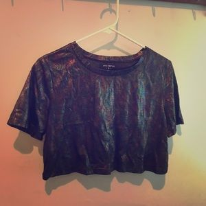 Tops - Oil Slick crop top