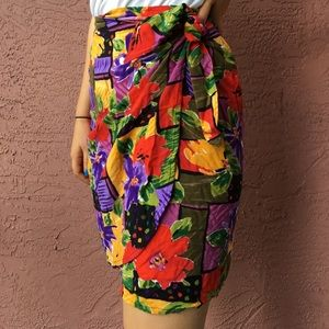 Dresses & Skirts - Tropical vintage Wrap Skirt