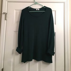 Old Navy forest green knit sweater