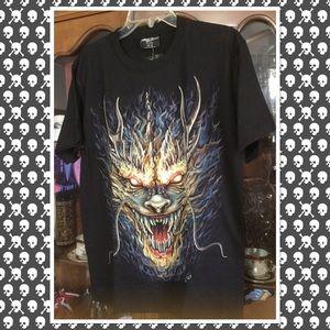 Other - Black glow in dark dragon T-shirt