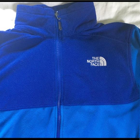 23829c2b8 Men's North Face zipup fleece bright blue 2 tone M