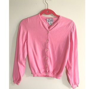Lilly Pulitzer pink cardigan sweater