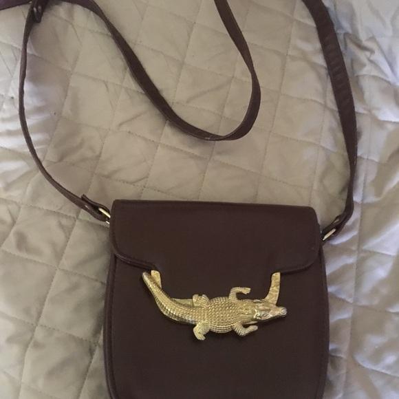 Vintage 1960 s Gold alligator clasp cross body bag.  M 597773662de51280eb022edb 4e8dca1aa2
