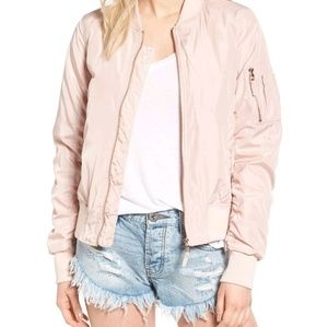 Jackets & Blazers - Blush bomber jacket
