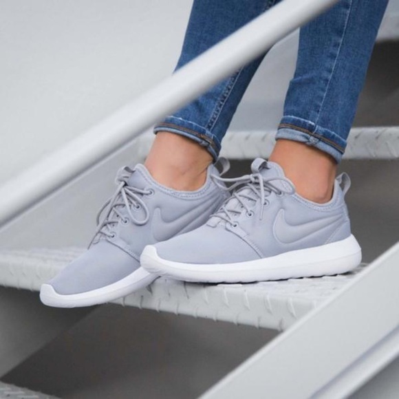 nike roshe two women's grey on grey sneaker