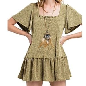 Tops - Bell sleeve olive tunic top