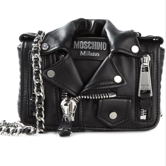 c4060aa6607 Moschino Bags   Iso Leather Jacket Biker Bagpurse   Poshmark