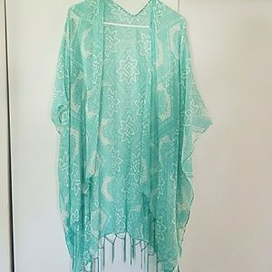 Tops - Maurices Teal sheer cover up shawl