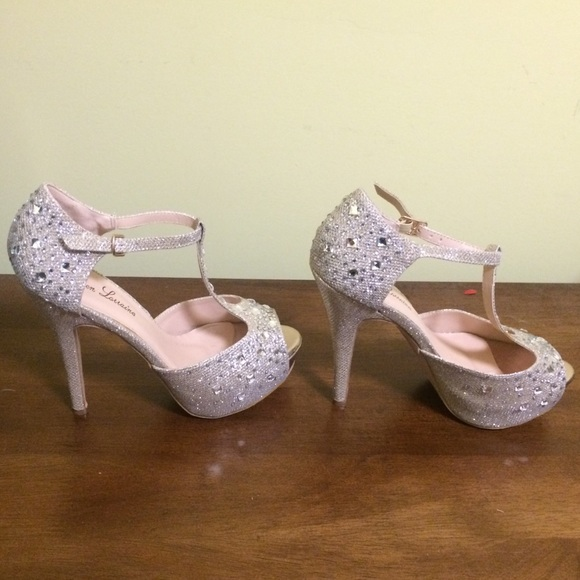 53bbef5bca lauren lorraine Shoes | Vivian Crystal Platform Pumps | Poshmark