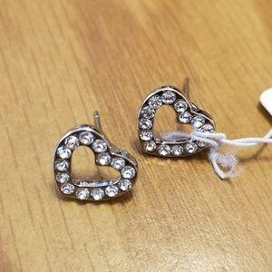 Jewelry - Sterling Silver Swarovski inspired Paved Earrings