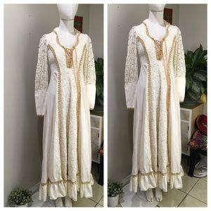 Gunne Sax By Jessica Vintage Boho Crochet Dress