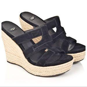 UGG Tawnie Suede Wedge Sandals