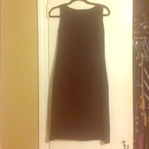 Classic black banana republic dress.