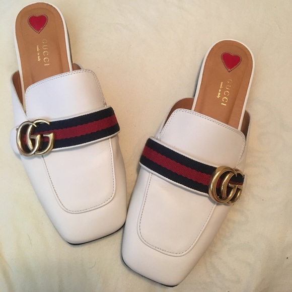 87603042879b Gucci Shoes - GUCCI Peyton Leather Slipper with Double G
