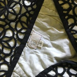Anthropologie Skirts - Anthropologie 9-H15 STCL black white lace skirt