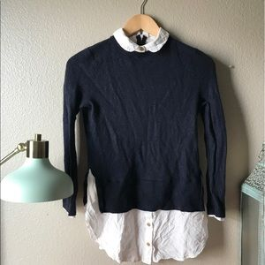 Topshop Button down sweater overlay top