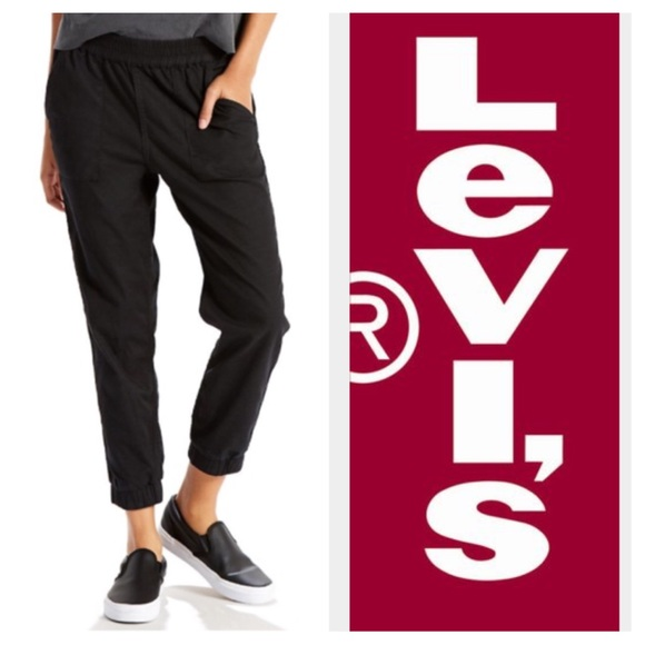 685d3157 Levi's Pants | Womens Levis Jet Set Tapered Pull On Black | Poshmark