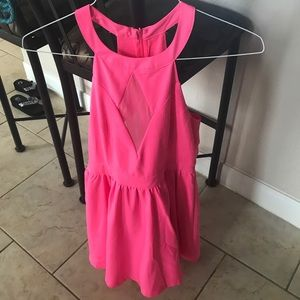 Dresses & Skirts - Tags on hot pink dress size Medium