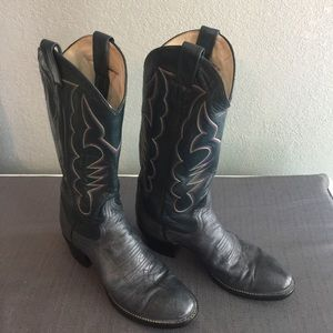 Larry Mahan vintage cowgirl boots sz 6.5 narrow