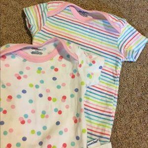 NWOT 2 colorful onesies