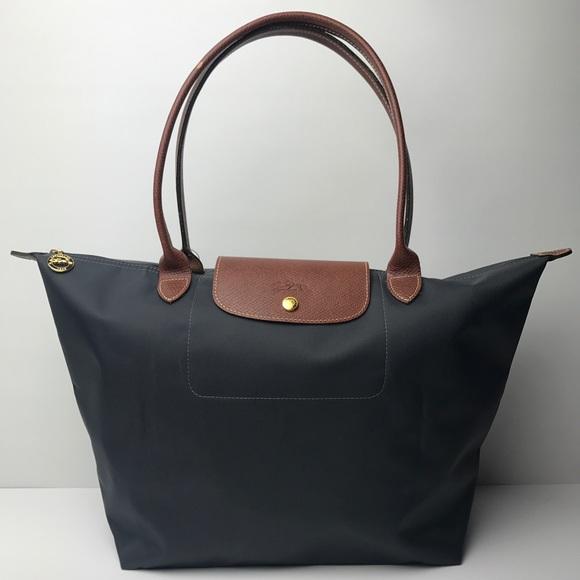 edf999d0468 Longchamp Handbags - Authentic Longchamp Large Le Pliage Grey Tote