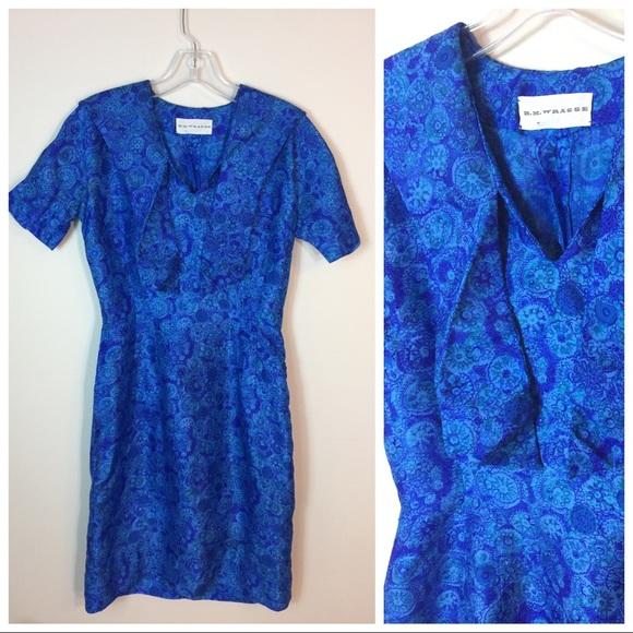 Vintage Dresses - Vintage 60's Silk HH Wragg Wiggle dress
