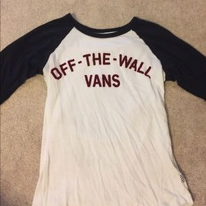vans off the wall 3/4 sleeve