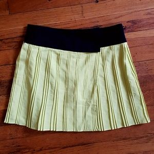 W118 by Walter Baker Pleated Color Block Skirt