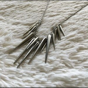 Jewelry - Silver Modern Spike Punk Statement Necklace