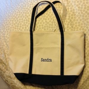 Handbags - Brand New Canvas Bag with Navy Straps