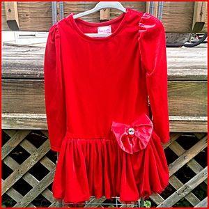 Toddler Red Velvet Bubble Hem Dress! NEW!