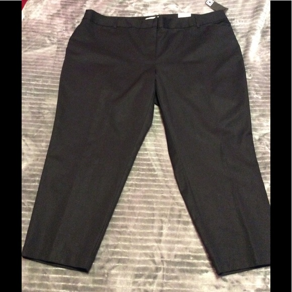 518c1eeb0e6 LIZ CLAIBORNE NWT ANKLE BLACK WOMEN PANTS 22W EMMA