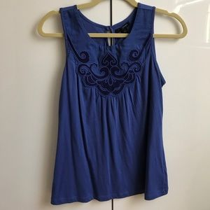 Purplish blue sleeveless top from banana republic