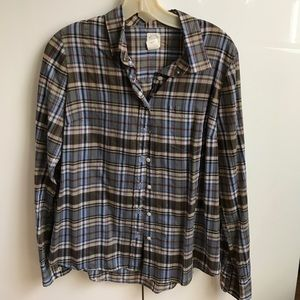 Classic J crew the perfect shirt--plaid
