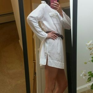 Echo collared cover-up/shirt dress  sz Lg