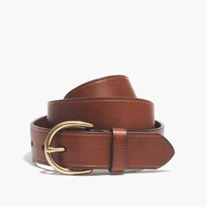 Madewell NWT Perfect Leather Belt Tan