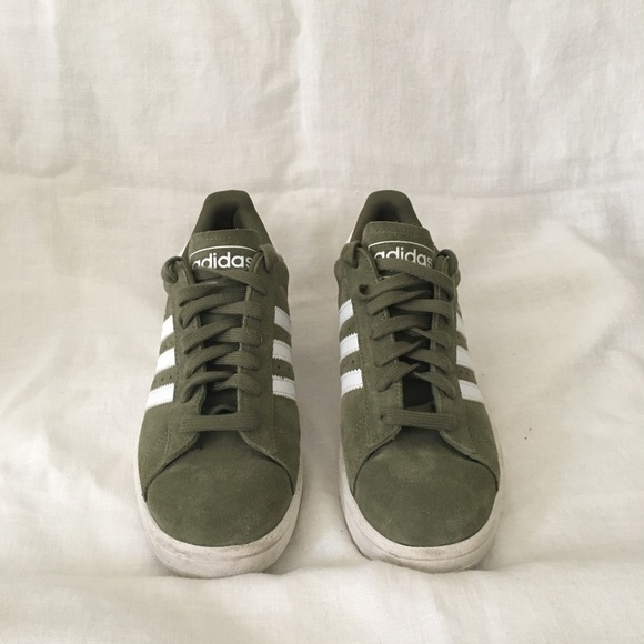 adidas Shoes - Green suede adidas campus size 6 mens  7.5 women d97743700