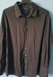 3X Perry Ellis Mens Button Down Long Sleeve Shirt